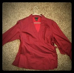 Lane bryant wrap around blouse